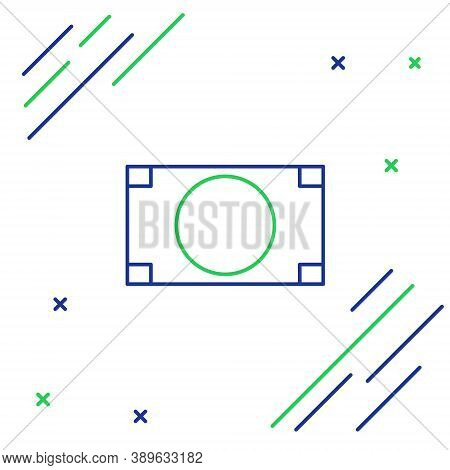 Line Stacks Paper Money Cash Icon Isolated On White Background. Money Banknotes Stacks. Bill Currenc