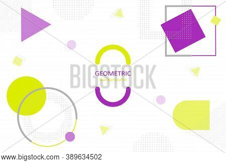 Minimal Geometric Abstract On White Background. Element Design With Simple Shapes And Decorate With