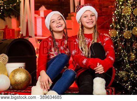 Playful Kids. December Holidays. Holidays And Vacation. Happy Holidays. Children Having Fun Christma