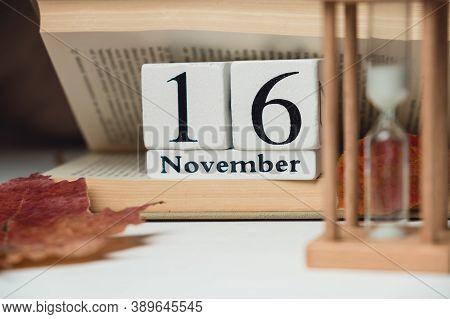 Sixteenth Day Of Autumn Month Calendar November.