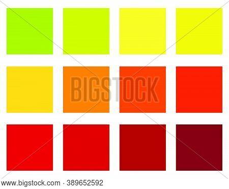 Autumn Colour Guide. Autumnal Swatch Color Tone Palette. Seasonal Scheme Of Colouring Inspiration. M