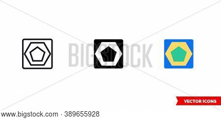 Discrepancy Icon Of 3 Types Color, Black And White, Outline. Isolated Vector Sign Symbol.