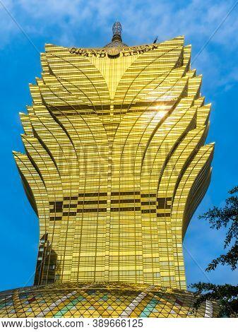 Macau, China - November 07, 2012: Grand Lisboa Casino. Macau, China