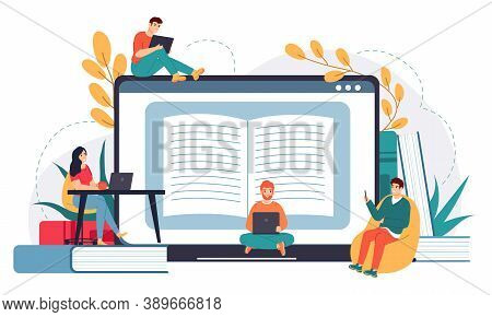 Online Business School. Distance Education, Web Courses Or Tutorials, E-learning, Business Meeting O