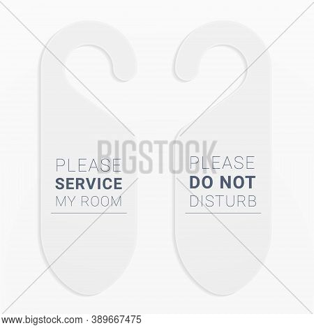 Door Hangers For The Doorknob To Mark Need Of Service Or Rest In Hotels, Resorts, Motels