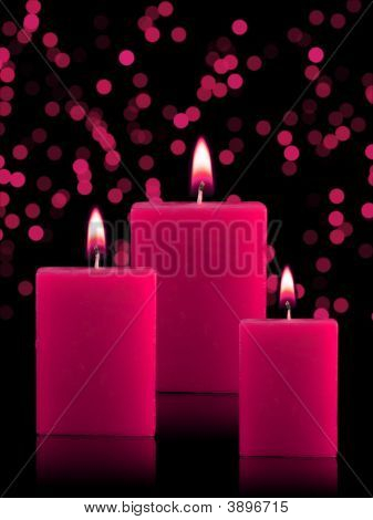 Lighted Christmas Candles