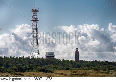 Leuchtturm Am Darßer Ort Auf Dem Darß