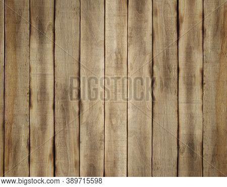 Wooden Background From Vertical Slats. Wood Planks Panel For Modern Vintage Design Textured Backgrou