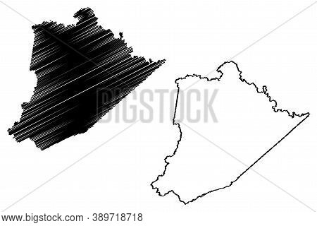 Pike County, Kentucky (u.s. County, United States Of America, Usa, U.s., Us) Map Vector Illustration