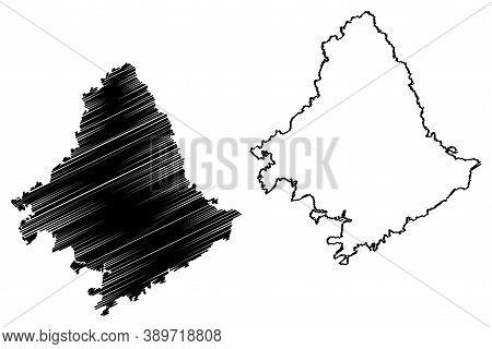 Rowan County, Kentucky (u.s. County, United States Of America, Usa, U.s., Us) Map Vector Illustratio