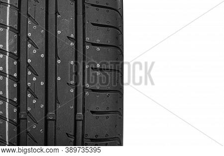 Car Tire Abstract Background Isolated On White