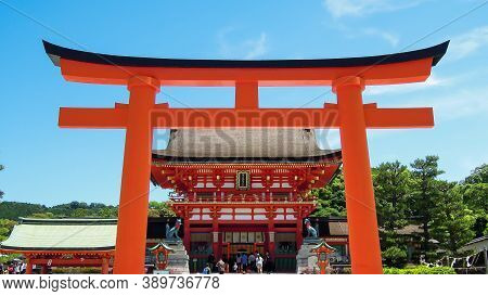Heavenly Gate At Japanese Shinto Shrine Temple In Kyoto Japan Luxury Travel Wooden Architecture Adve