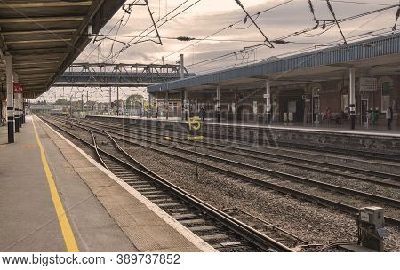 Doncaster, Yorkshire, Northern England -  October 7, 2020. Number 15 In The Middle Of The Train Trac
