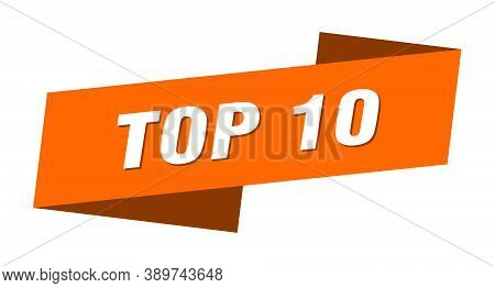 Top 10 Banner Template. Top 10 Ribbon Label Sign
