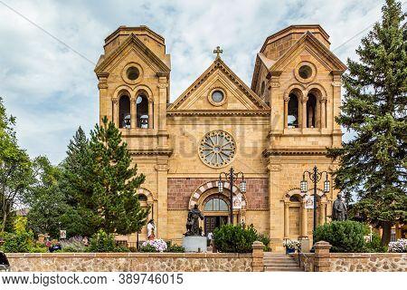 Santa Fe, Nm / Usa - September 20, 2016: The Historic Cathedral Basilica Of St Francis Of Assisi San