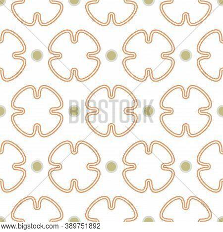 Geometric Seamless Vector Geometric Oriental Style Pattern Background. Floral Quatrefoil Shapes Prin
