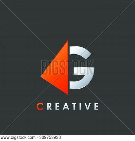 Techno Split Half Letter G Logo Vector Design With Geometrical Triangle Shape.