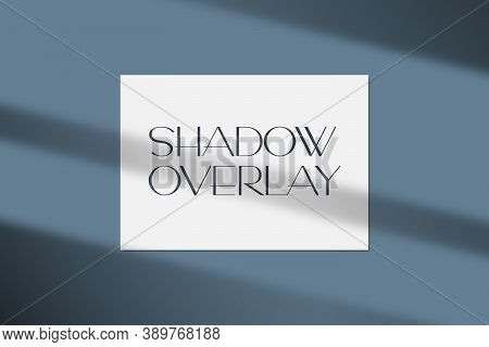 Vector Illustration Of A4 Paper Mockup With Realistic Shadow Overlay Effect. Soft Light Shadow From