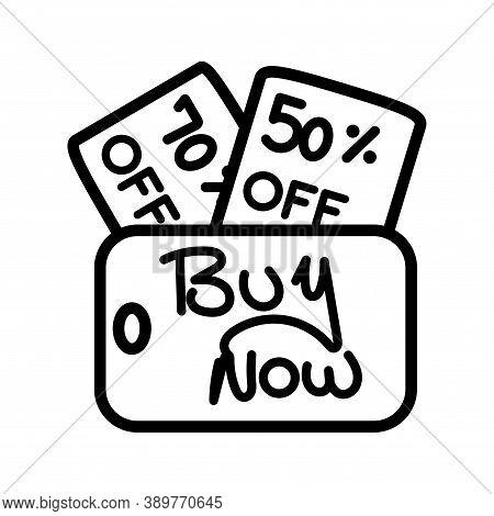 Balck Friday Discount Label. Black Friday Icon - Vector
