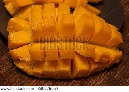 Fresh Organic Mango Product, Cutaway Fruit. Mango Cutaway