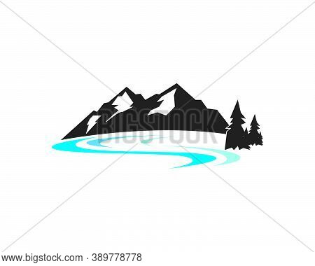 High Mountain Icon Logo Of Adventure  Template