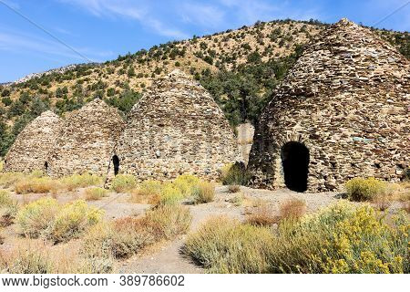October 4, 2020 In Death Valley National Park, Ca:  Historical Charcoal Kilns Built In 1877 Which We