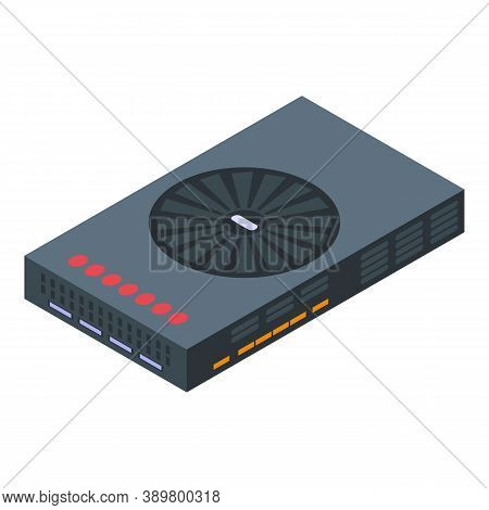 Hardware Graphic Card Icon. Isometric Of Hardware Graphic Card Vector Icon For Web Design Isolated O
