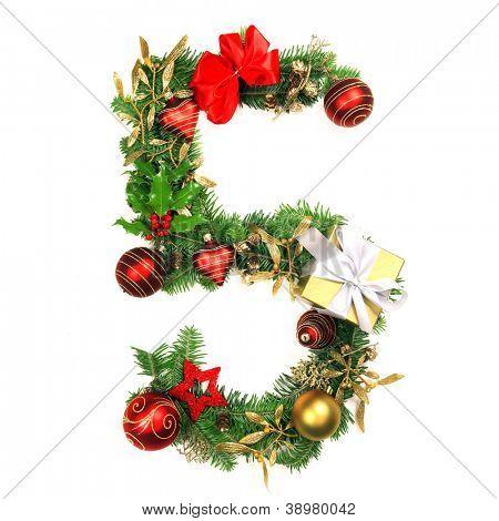 Christmas Alphabet Number 5