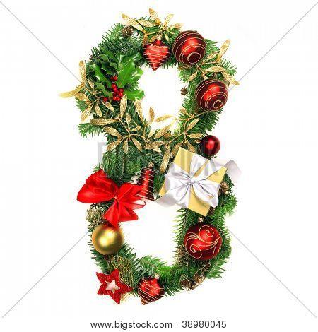 Christmas Alphabet Number 8