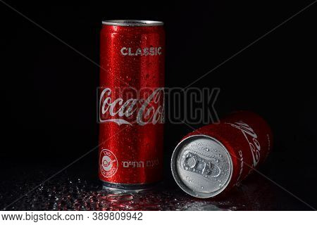 Netanya, Israel - October 6, 2020:coca Cola Cans, Coke Is The Most Popular Carbonated Soft Drink
