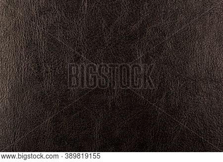 Black Leather Background. Black Leather Texture Closeup Background. Structured Background Design Lea