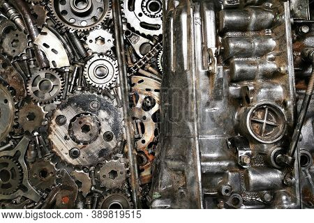 Iron Steampunk Cogwheel Texture