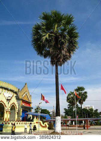 The Ancient Temple In Yangon, Rangoon, Myanmar