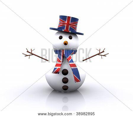 Cheerful Snowman English - 3D