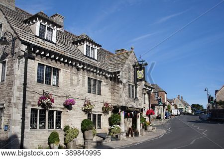 An Old Hotel In The Village Of Corfe, Dorset Called The Bankes Arms, Taken On The 22nd July 2020