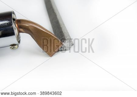 Soldering Tin Tool With A Bar On A White