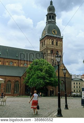 Riga, Latvia- June 29 2020: Riga Dome Cathedral Has Been One Of The Major Venues For Concerts In Rig