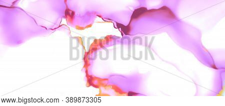 Liquid Blur Background. Watercolor Wave Art. Alcohol Ink Effect. Abstract Creative Oil Spots. Romant
