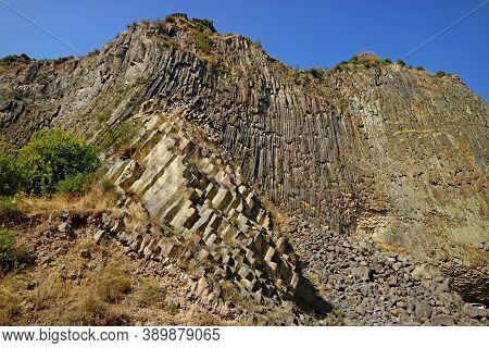 Symphony Of The Stones Or Basalt Organ, Massive Basalt Column Formations Along The Garni Gorge, Kota