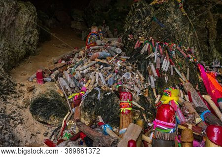 Phra Nang Cave Should Be Treated With Respect By Anybody Visiting There. Fishermen And Boatmen Still