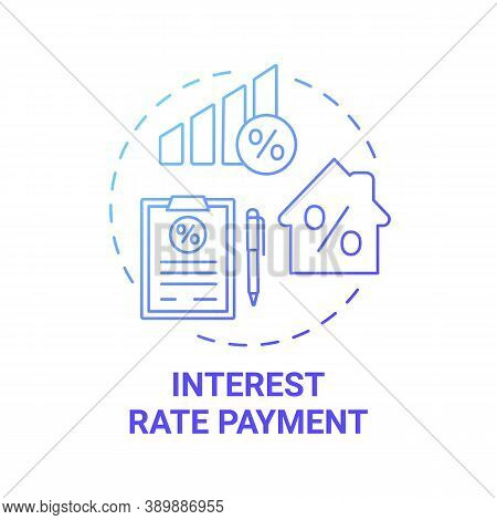 Interest Rate Payment Concept Icon. Mortgage Payment Element Idea Thin Line Illustration. Annual Per
