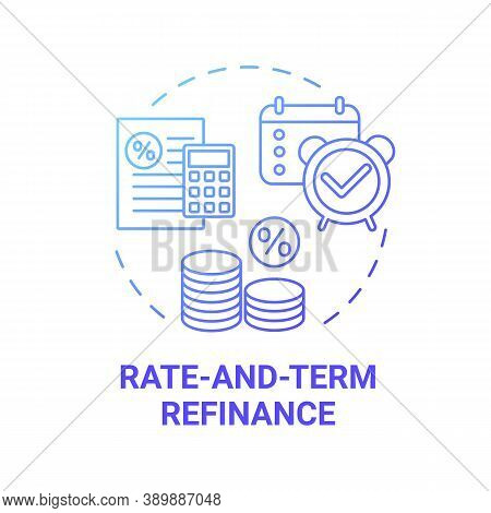 Rate-and-term Refinance Concept Icon. Mortgage Refinancing Type Idea Thin Line Illustration. No Cash