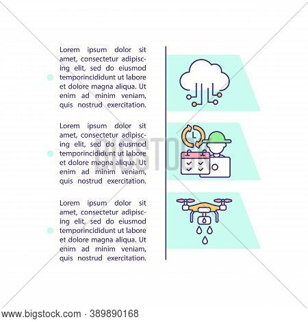 Agriculture Innovation Concept Icon With Text. Drones In Farming. Farm Automation. Ai And Iot. Ppt P