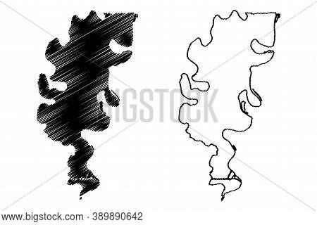 Concordia County, Louisiana (u.s. County, United States Of America, Usa, U.s., Us) Map Vector Illust