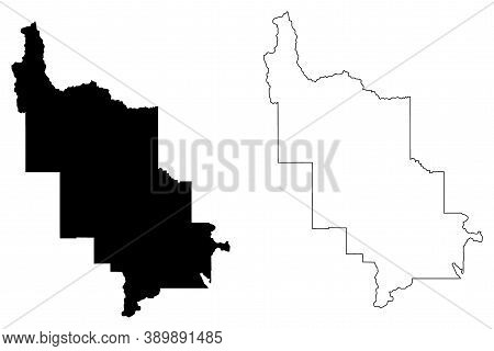 Lewis And Clark County, Montana (u.s. County, United States Of America, Usa, U.s., Us) Map Vector Il