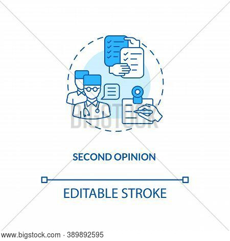 Second Opinion Concept Icon. Telemedicine Pros. Advantages Of Online Medical Service. Healthcare Sys