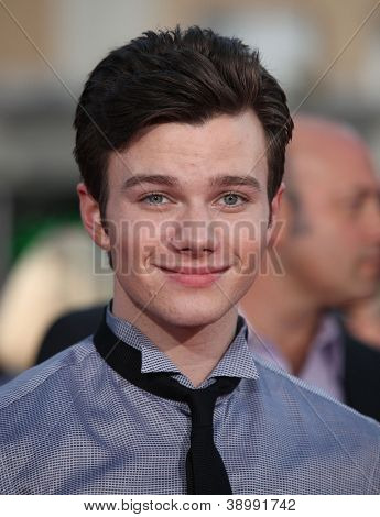 LOS ANGELES - AUG 06:  CHRIS COLFER arrives to the