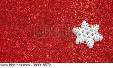 Christmas Abstract Background. Abstract Bokeh Lights. Shiny Sparkle Metallic Glitter Texture. White