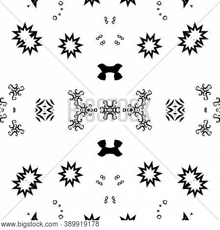 Seamless Polygon Repeat Modern Geometric Black Patterns, Polygonal For Wallpaper. Ornament For Carpe