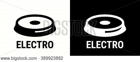 Electro Icon, Electric Cooking Hob And Stove Oven Cooker Vector Symbol. Elector Grate Icon For Cookw